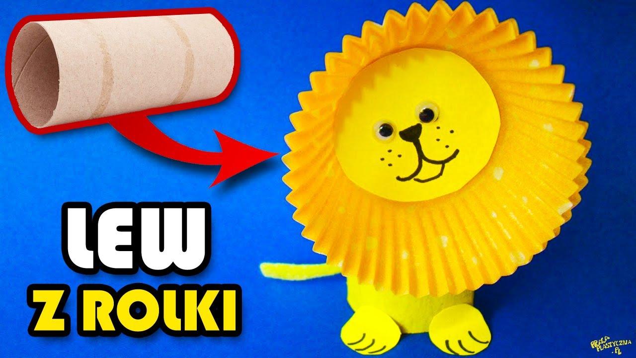Lew z rolki - praca plastyczna - YouTube