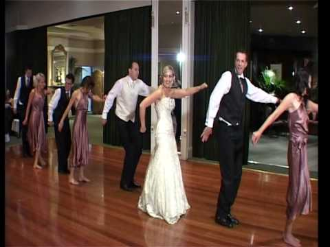 Craig And Cassie Funny First Wedding Dance Bridal Party Surprise Thriller