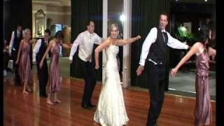 Craig and Cassie funny first wedding dance, bridal party surprise thriller