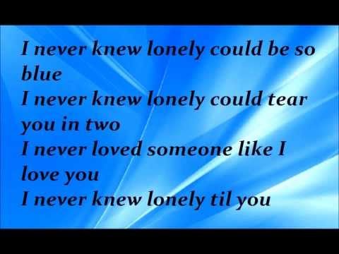 Vince Gill - Never knew lonely lyrics