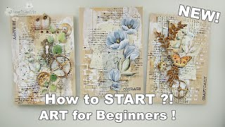 2020 NEW! How t๐ Break A Blank Vintage Page for Beginners #13 ♡ Maremi's Small Art ♡