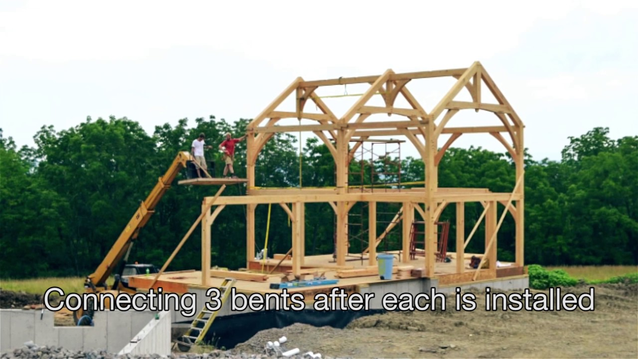 Steps to Building a Home Part 2: Timber Frame Raising - YouTube