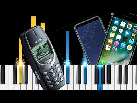 Cell phone ringtones on piano - Nokia, iPhone, Android - EASY Piano Tutorial