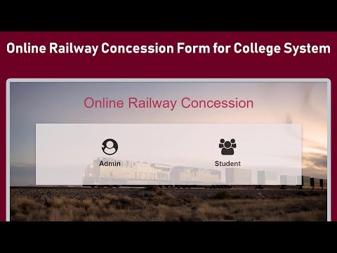Online Railway Concession Form For College System Software Web Project
