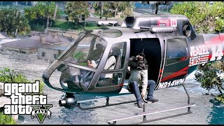 FIRST HELICOPTER VIEW OF HURRICANE FLORENCE FLOODING REPORTED BY WEAZEL NEWS GTA 5 REAL LIFE MOD