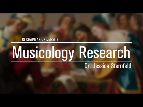 Dr. Jessica Sternfeld - Musicology research