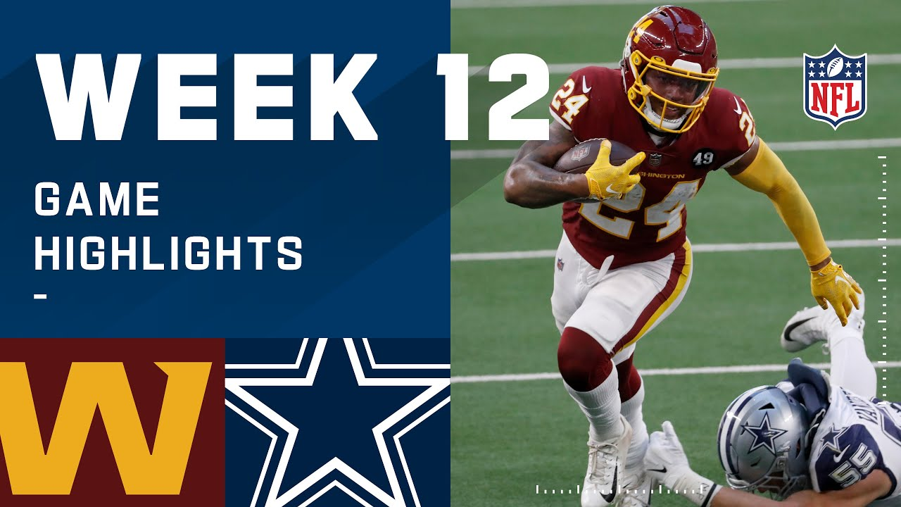 Washington Football Team vs. Cowboys Week 12 Highlights | NFL 2020