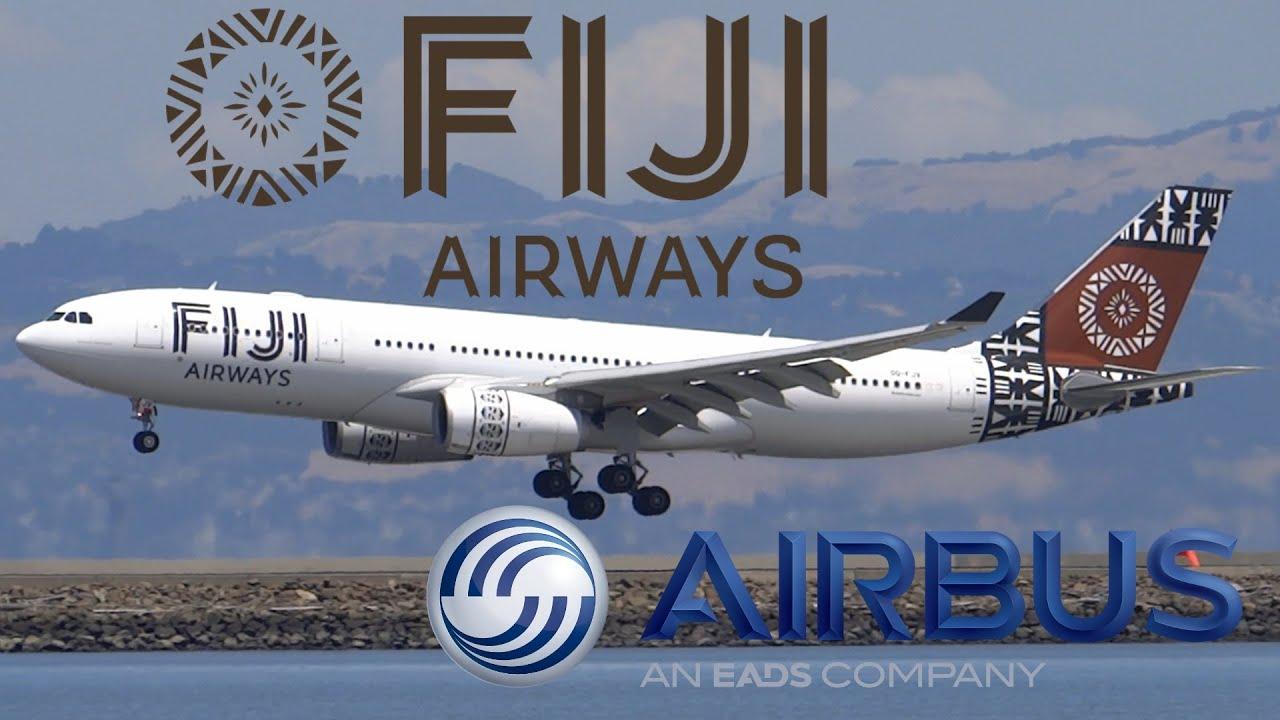 Download HD Fiji Airways Airbus A330-243 DQ-FJV Inaugural Landing at San Francisco International Airport