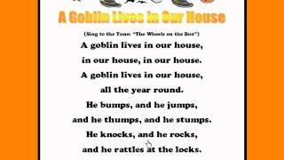 A Goblin Lives in Our House - Kids Halloween Rhymes and Songs - Kids Read and Sing