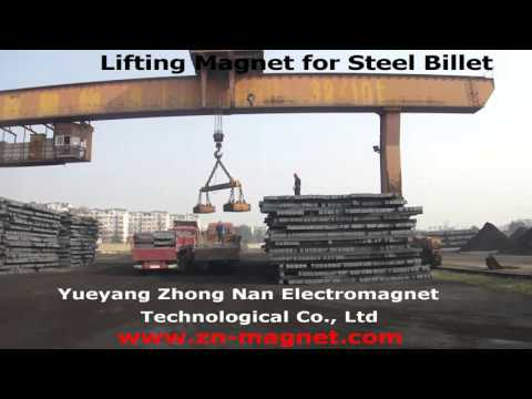 Lifting magnet for steel billet