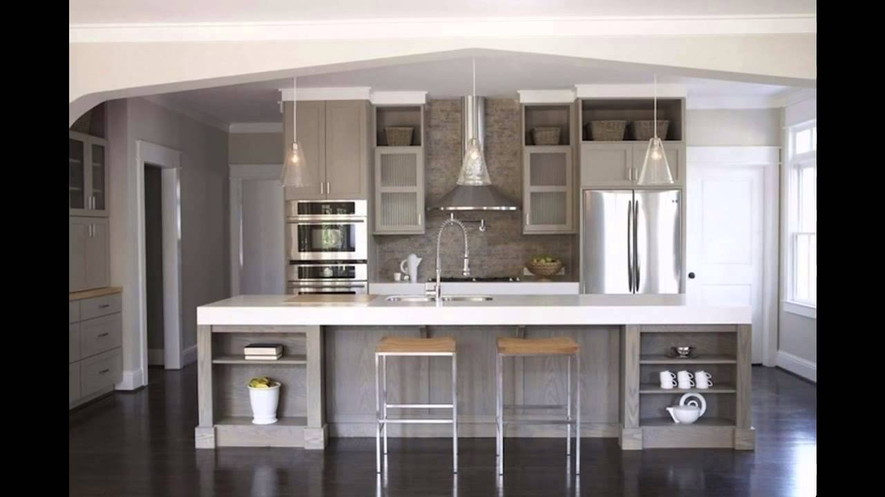 Gray Kitchen Cabinets Youtube
