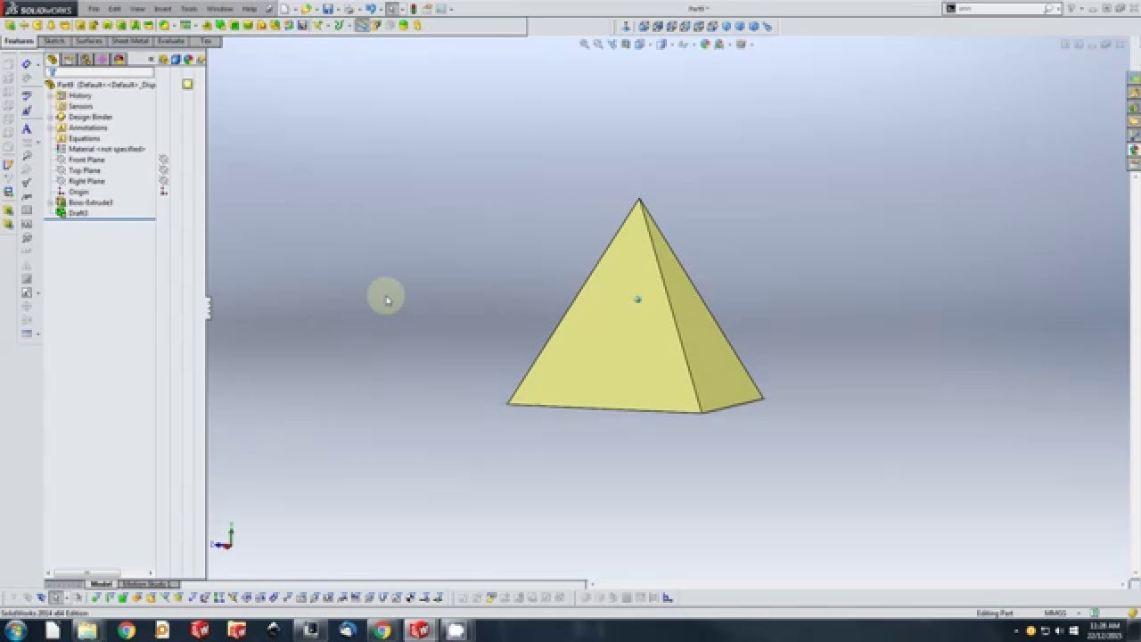 Solidworks How To Make Pyramid 01 - Youtube-7165