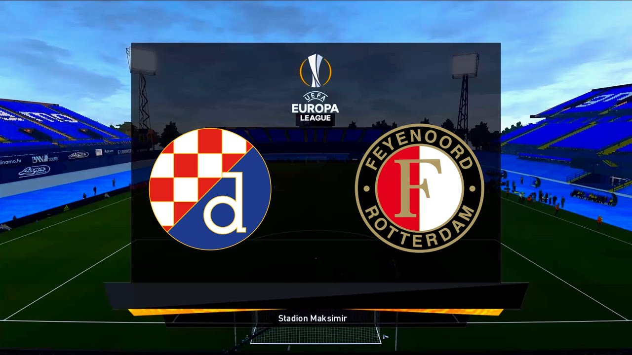 Dinamo Zagreb Vs Feyenoord Stadion Maksimir 2020 21 Uefa Europa League Pes 2021 Youtube