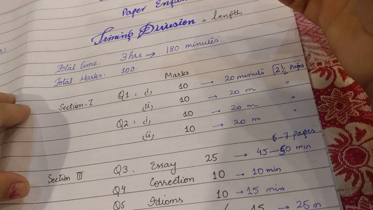 BA part 2 English paper pattern with timing division 2018 pu