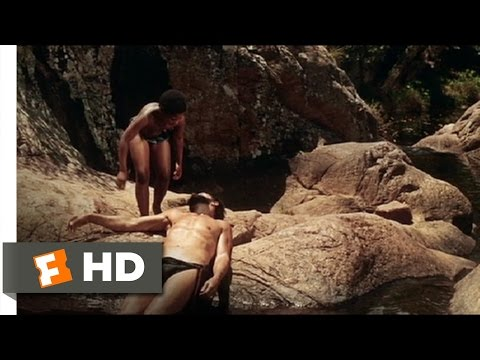 The Naked Prey (8/9) Movie CLIP - Waterfall Escape (1966) HD