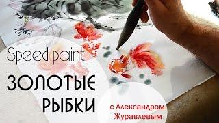 Как нарисовать золотую рыбку на рисовой бумаге(В этом видео я покажу вам, как нарисовать золотых рыбок на рисовой бумаге. Посмотрите это видео и вы убедите..., 2015-11-08T19:23:11.000Z)