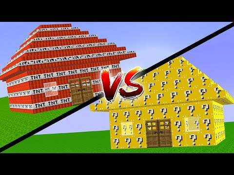 TNT EV VS LUCKY BLOCK EV (Minecraft)
