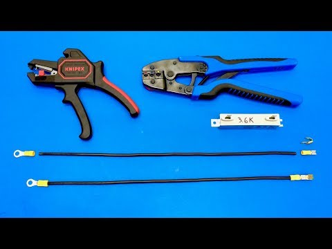 Ratchet Crimping Tool: Insulated Terminals / DC  Balance Taps
