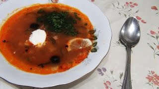 Солянка Рецепт мясной солянки совместно с Simple Food