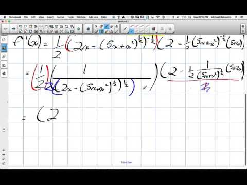 Chain Rule of Derivatives Grade 12 Calculus and Vectors Lesson 2 4 3 2 16