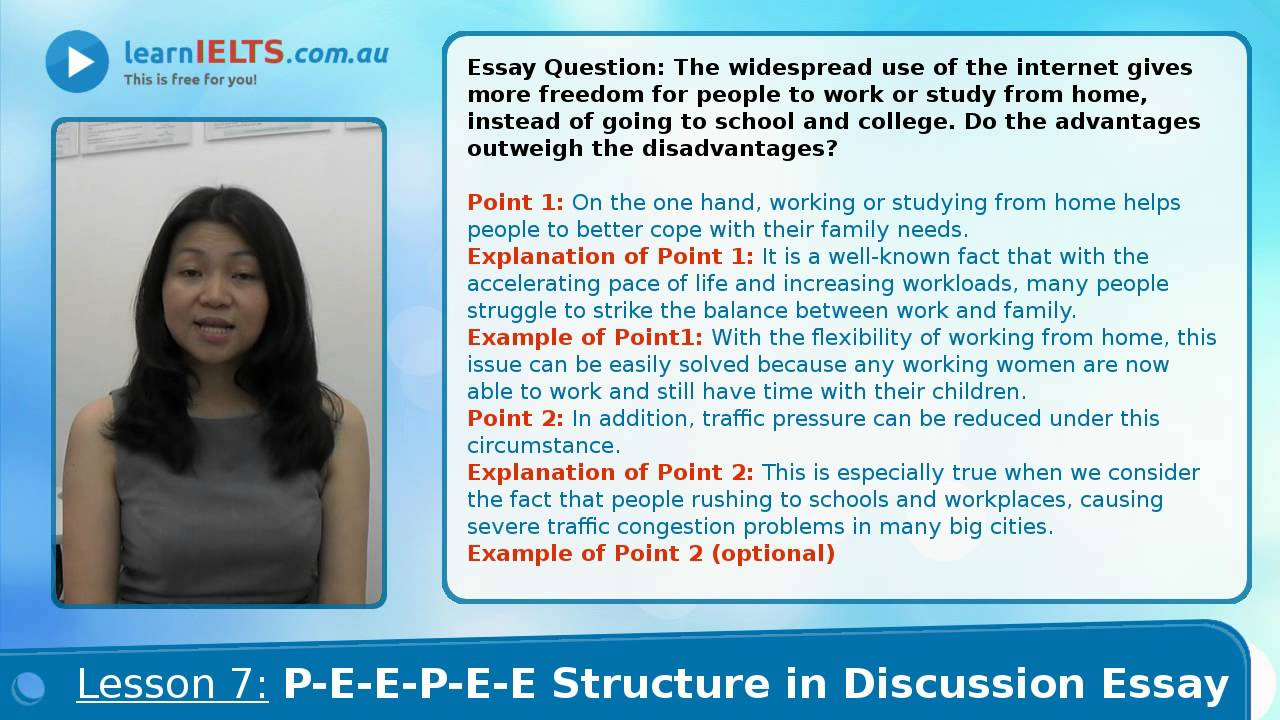 ielts writing lesson peepee structure discussion essay   ielts writing lesson 7 peepee structure discussion essay