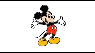 How To Draw Mickey Mouse From Disney