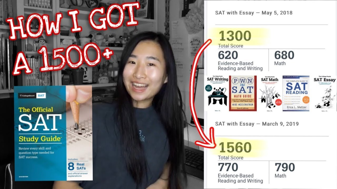 HOW TO GET A 1500+ ON THE SAT! NO TUTOR! | My Study Plan