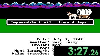 So I tried speedrunning The Oregon Trail and was constantly devastated by my own luck