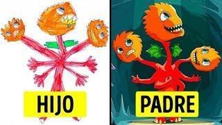 Estos padres transformaron los dibujos de sus hijos en obras de arte