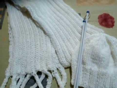 bufanda tejida a dos agujas. (facil).
