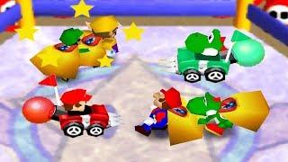 Mario Party 2 - 4 Player Minigames - Yoshi Mario Luigi Wario All Funny Mini Games (Master CPU)