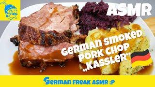 ASMR eating no talking: smoked pork chop!🇩🇪 (カッセラー)