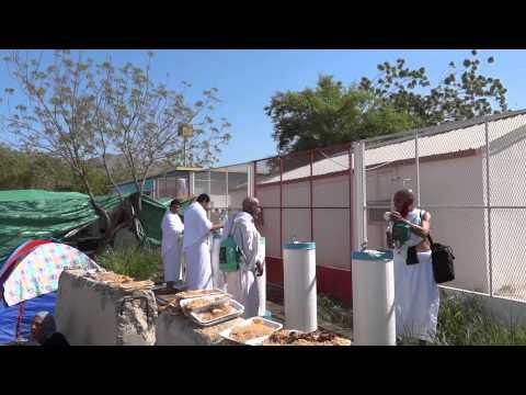 pilgrim waste the food in arfat hajj 1432.2011(full HD) عرفات الحج