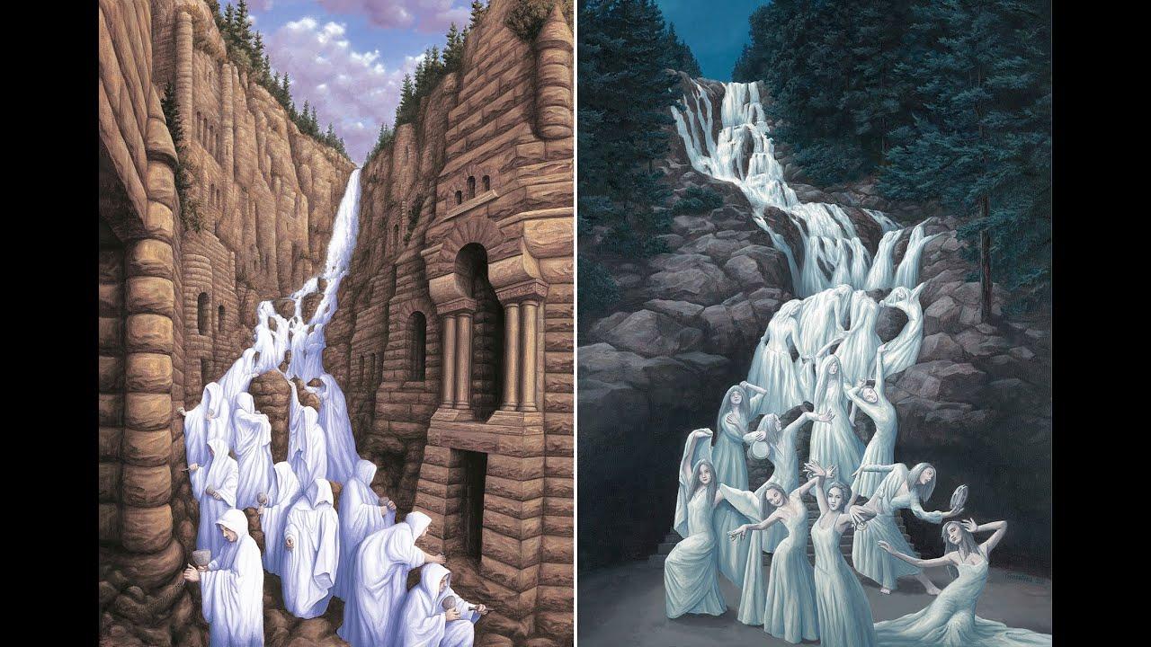 illusion optical illusions paintings tricks artworks mind artwork