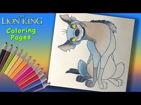 Coloring Book for Kids. Hyena from the Lion King Coloring Pages