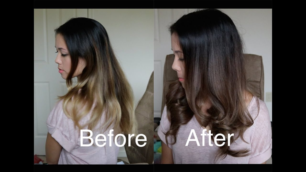How To Darken An Ombr With Wella Demi Permanent Hair Dye Youtube