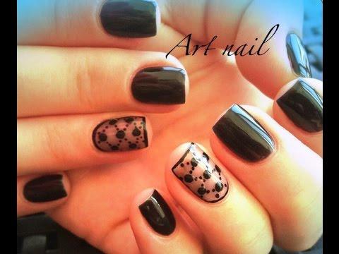 Дизайн колготки на ногтях