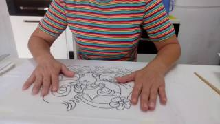 Sequência da primeira aula do curso de pintura por Rosana Duran