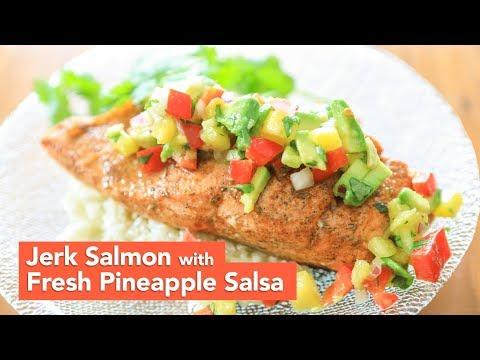 Jerk Salmon with Fresh Pineapple Salsa