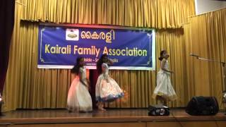 Chinnu,Nandana&Sanjana perfoming ellarum chollanu