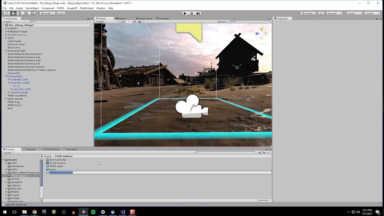Somatone VR Audio Tutorials - Unity+FMOD+Resonance Audio - Part 3