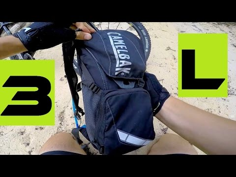 3 Liters Bicycle Backpack - How Much It Will Fit In. Camelbak Rogue Test.