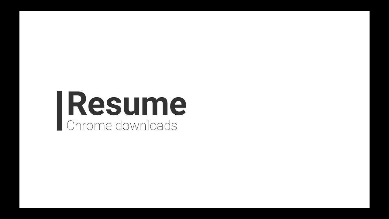 How to resume failed downloads in chrome