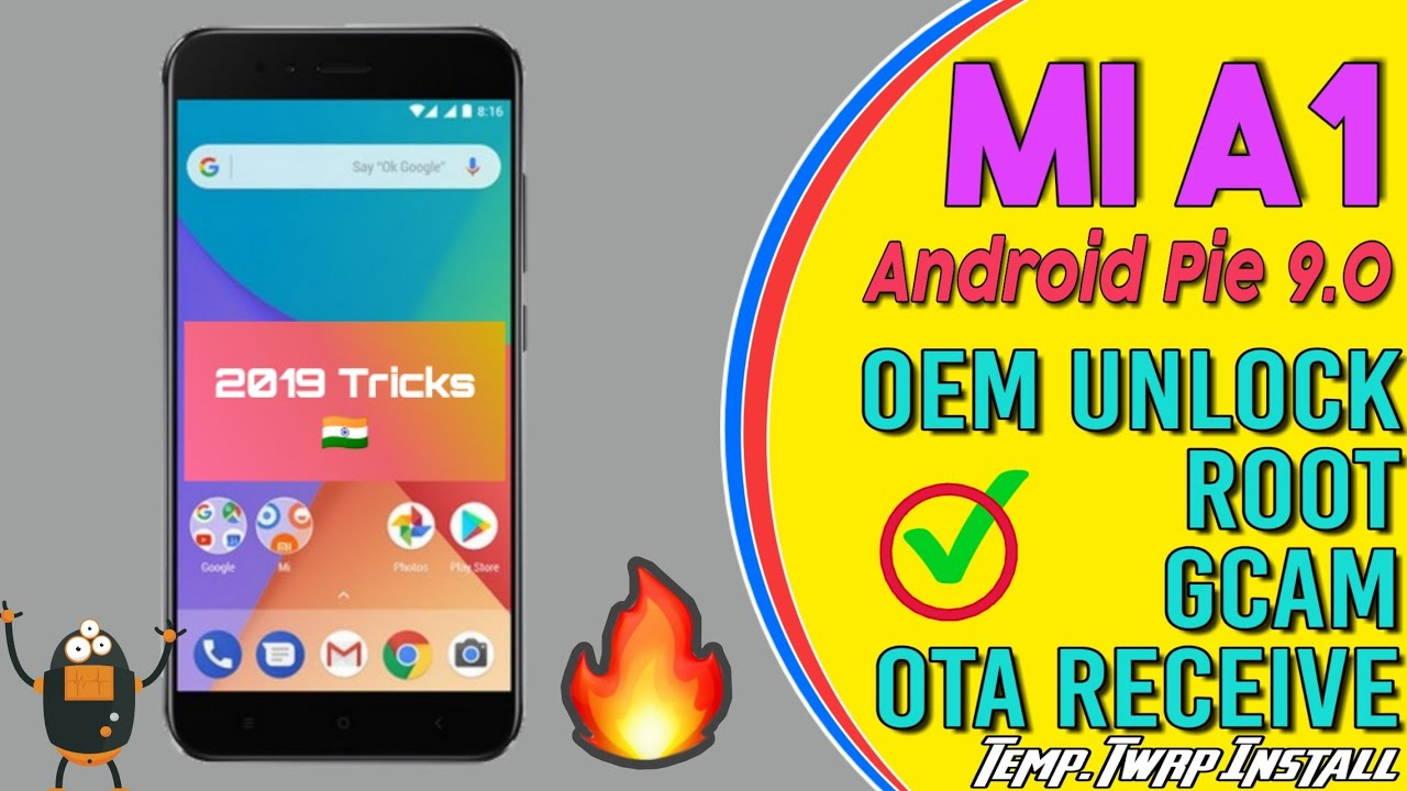 Mi A1: Root, Gcam, No Data Wipe, Twrp on temporary, OTA Update Receive 101%  Till Dec 2019 in Hindi