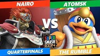 SSC2019 SSBU - NRG Nairo (Ganondorf) VS  AtomSK (Dedede) The Rumble Quarterfinals