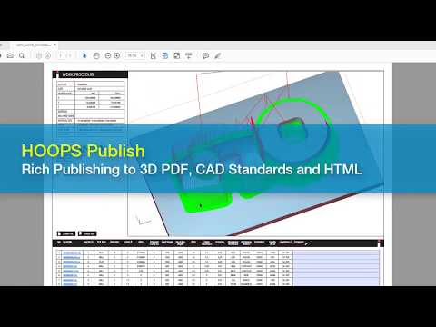 Publishing 3D Data to PDF, CAD Standards and HTML