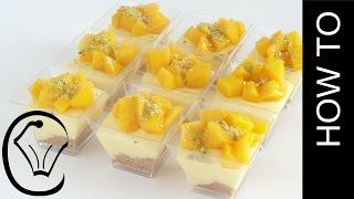 Mini No Bake Mango Cheesecake Dessert Cups by Cupcake Savvy