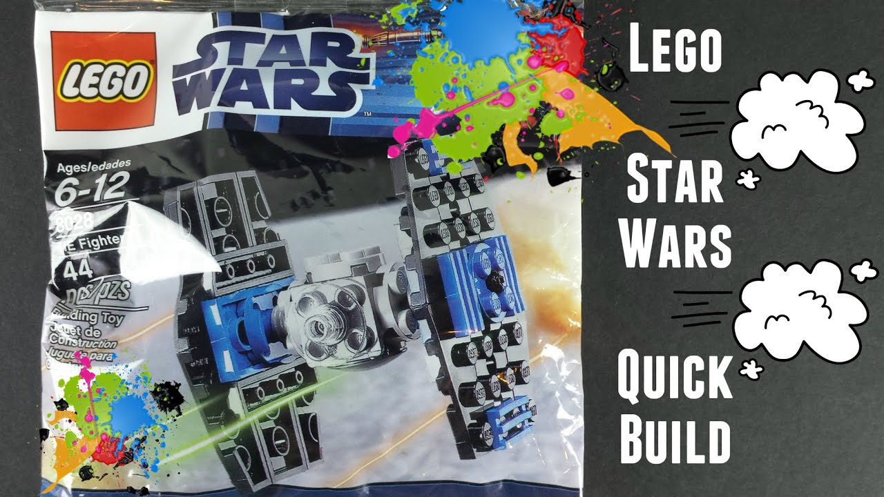 Lego Star Wars Tie Fighter Quick Build Smart Kids Happy Toys