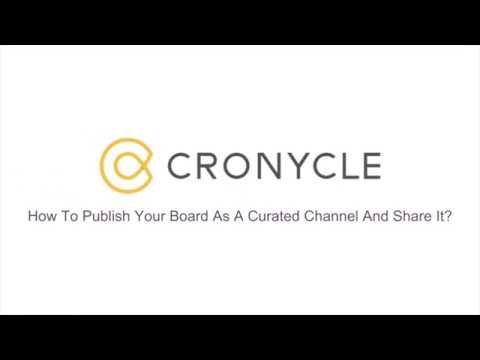 Publish Your Board As A Curated Channel And Share It