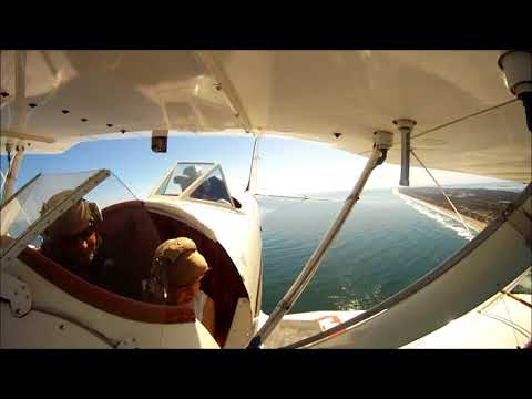 OBX Air Tour Adventures:  Michael and Mathias fly with OBX Biplanes!